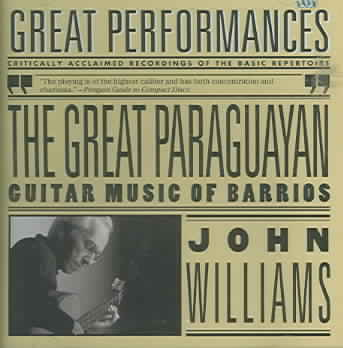 GREAT PARAGUAYAN:SOLO GUITAR WORKS BY BY WILLIAMS,JOHN (CD)